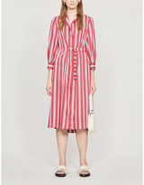 Claudie Pierlot Rayete crepe shirt midi dress