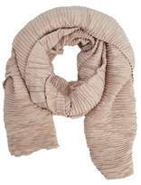 Mango Outlet Striped textured scarf
