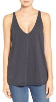 James Perse Deep V-Neck Cotton & Cashmere Tank