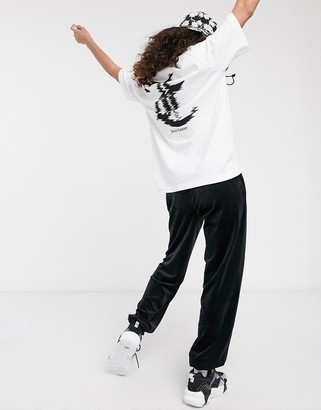 Juicy Couture logo t-shirt with back print in white