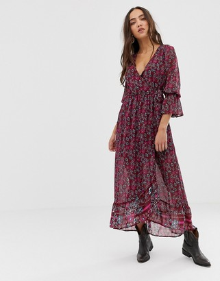 Band of Gypsies floral print midi dress