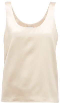 Raey Scoop-neck Silk-satin Vest - Cream