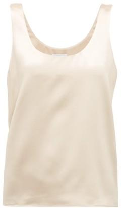 Raey Scoop-neck Silk-satin Vest - Womens - Cream
