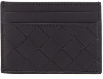 Bottega Veneta Men's Portacard Woven Leather Card Case