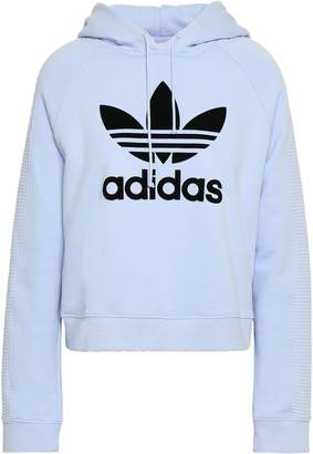 adidas Flocked French Cotton-terry Hoodie