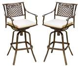 Christopher Knight Home Sebastian Set of 2 Cast Aluminum Patio Barstool with Cushion - Copper