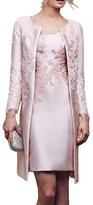 Charm Bridal Satin Appliqued Tight Mother of Bride Women Party Dress with Jacket
