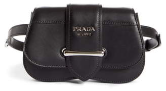 Prada Convertible Calfskin Leather Belt Bag