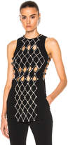 David Koma Diamond Plexi & Crystal Side Loops & Metal Balls Top