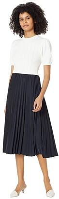 Ted Baker Stitch Detail Mockable Dress (White) Women's Dress
