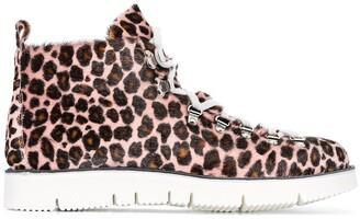 Fracap Leopard Print Hiking Boots