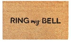 "Home & More Ring my Bell 17"" x 29"" Coir/Vinyl Doormat Bedding"