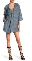 Jets Abstract Print Tunic Dress