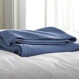 Crate & Barrel Siesta Blue Blanket