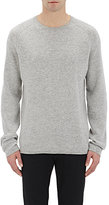 Vince MEN'S STRIPED CASHMERE SWEATER-GREY SIZE L