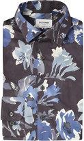 Duchamp Hibiscus-print Tailored-fit Cotton Shirt