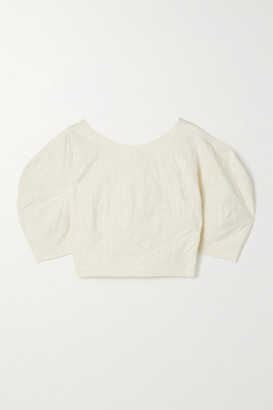 Mara Hoffman + Net Sustain Peni Organic Cotton And Linen-blend Jacquard Top - Off-white