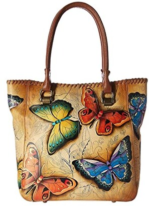 Anuschka Large Shopper 609 (Earth Song) Handbags