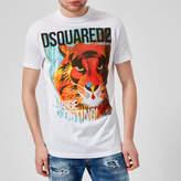 Dsquared2 Men's Lion Print TShirt - White