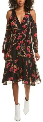 Yumi Kim Cold-Shoulder Dashing Wrap Dress
