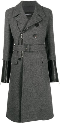 Neil Barrett Contrast-Cuff Virgin Wool Coat