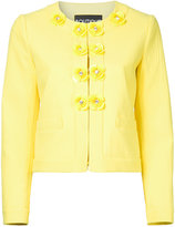 Moschino floral buttons jacket - women - Cotton/Other fibres - 42