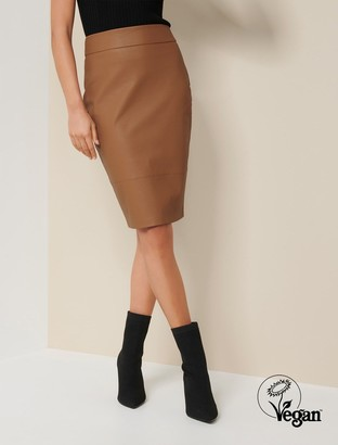 Ever New Alex Faux Leather Pencil Skirt