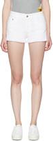 Stella McCartney White Fringe Stars Denim Cut-off Shorts