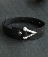 Nautilus Leather & Silvertone Arrow Bracelet