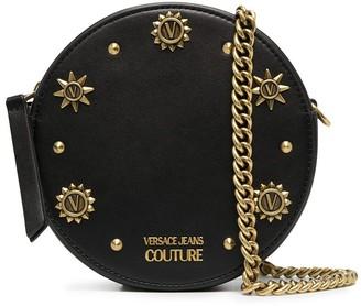Versace Round Studded Chain Clutch
