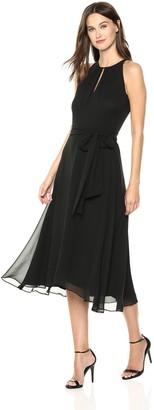 Tahari by Arthur S. Levine Women's Keyhole Chiffon Dress
