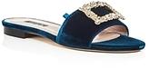 Sarah Jessica Parker Grace Velvet Slide Sandals - 100% Exclusive