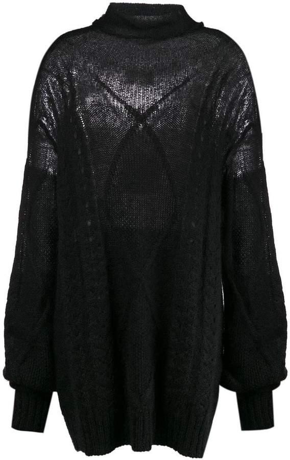 Maison Margiela cable-knit sweater