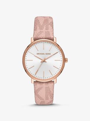 Michael Kors Pyper Logo and Rose Gold-Tone Watch
