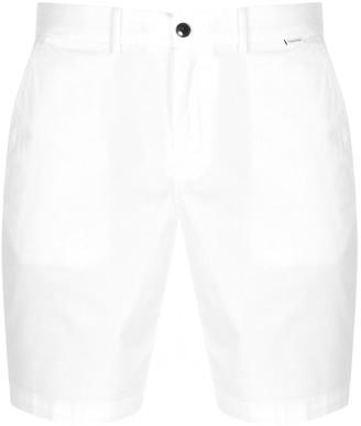 Calvin Klein Slim Fit Logo Denim Shorts White