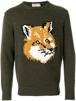 MAISON KITSUNÉ fox embroidered sweatshirt