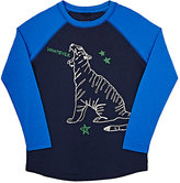 Stella McCartney Tiger-Graphic Long-Sleeve T-Shirt-BLUE
