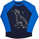 Stella McCartney Tiger-Graphic Long-Sleeve T-Shirt-BLUE