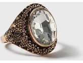 Dorothy Perkins Womens Crystal Stone Set Ring- Clear