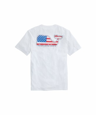 Vineyard Vines Men's Short-Sleeve Americana Whale Pocket T-Shirt