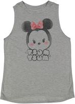 Jerry Leigh Disney Tsum Tsum Heather Gray Minnie Tank - Juniors