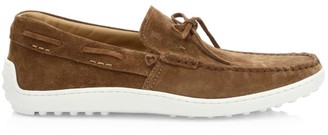 Tod's Laccetto Suede Boat Shoes