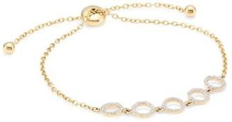 Phillips House Hero 14K Yellow Gold & Diamond Chain Slider Bracelet