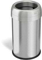iTouchless Halo 13-gallon Dual-Deodorizer Round Fingerprint-Proof Stainless Steel Trash Can