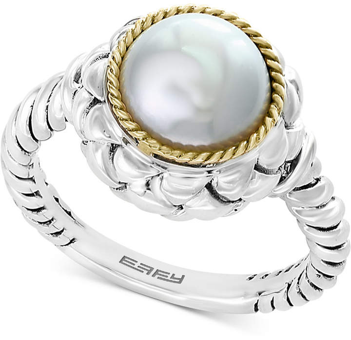 Effy Cultured Freshwater Pearl (9mm) Ring in Sterling Silver & 18k Gold