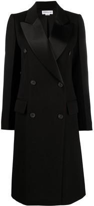 Victoria Beckham Double-Breasted Mid-Length Coat