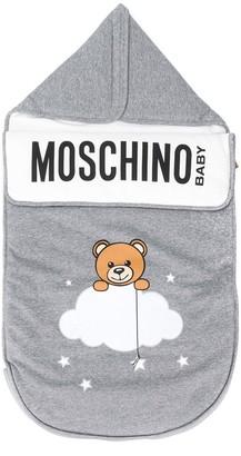 MOSCHINO BAMBINO Teddy-print cotton sleeping bag