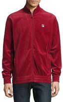 Fila Velour Zip-Front Track Jacket