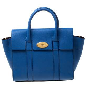 Mulberry Bayswater Blue Leather Handbags