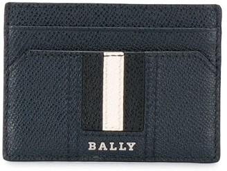 Bally Grained Leather Stripe Cardholder